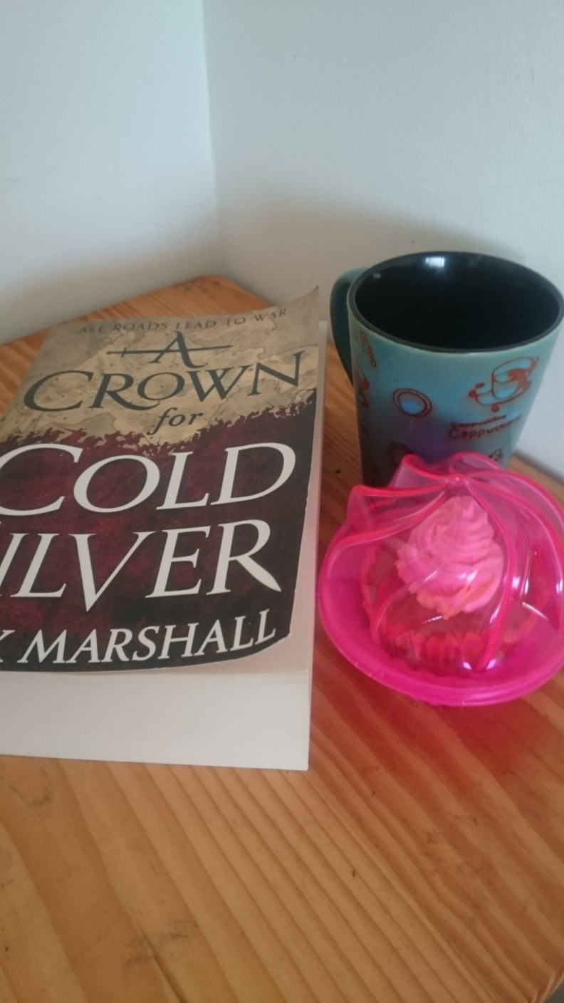 book, cake and tea