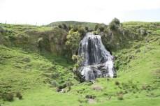 scenic railway view waterfall