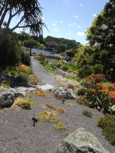 The view across the botanic gardens