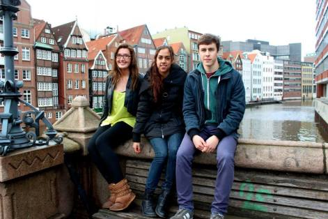 Aranza, Patryk, and Myself in Hamburg