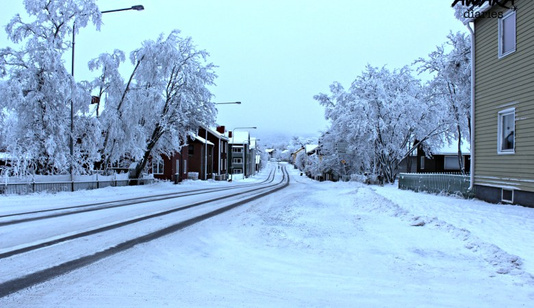 Snowy roads of Kiruna