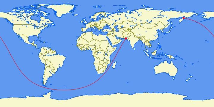Karachi to Kamchatka