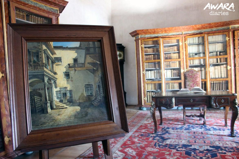 Inside Telc Chateau