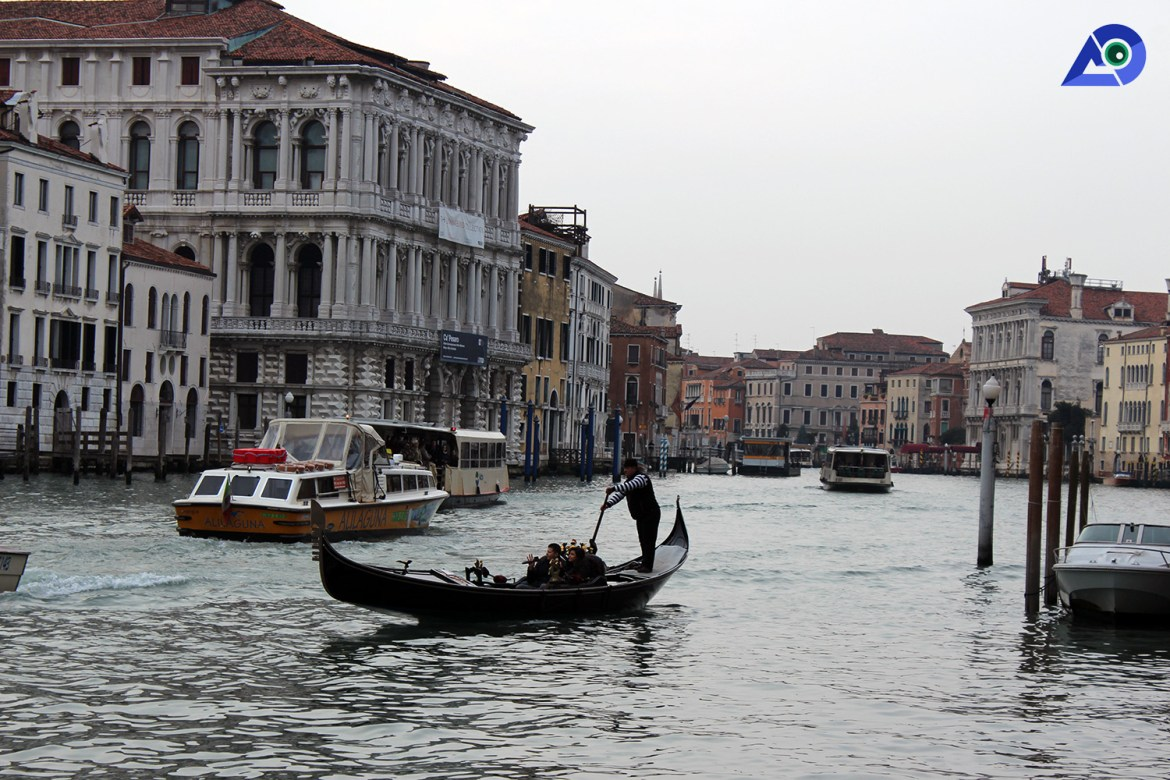 Water taxi in Venice