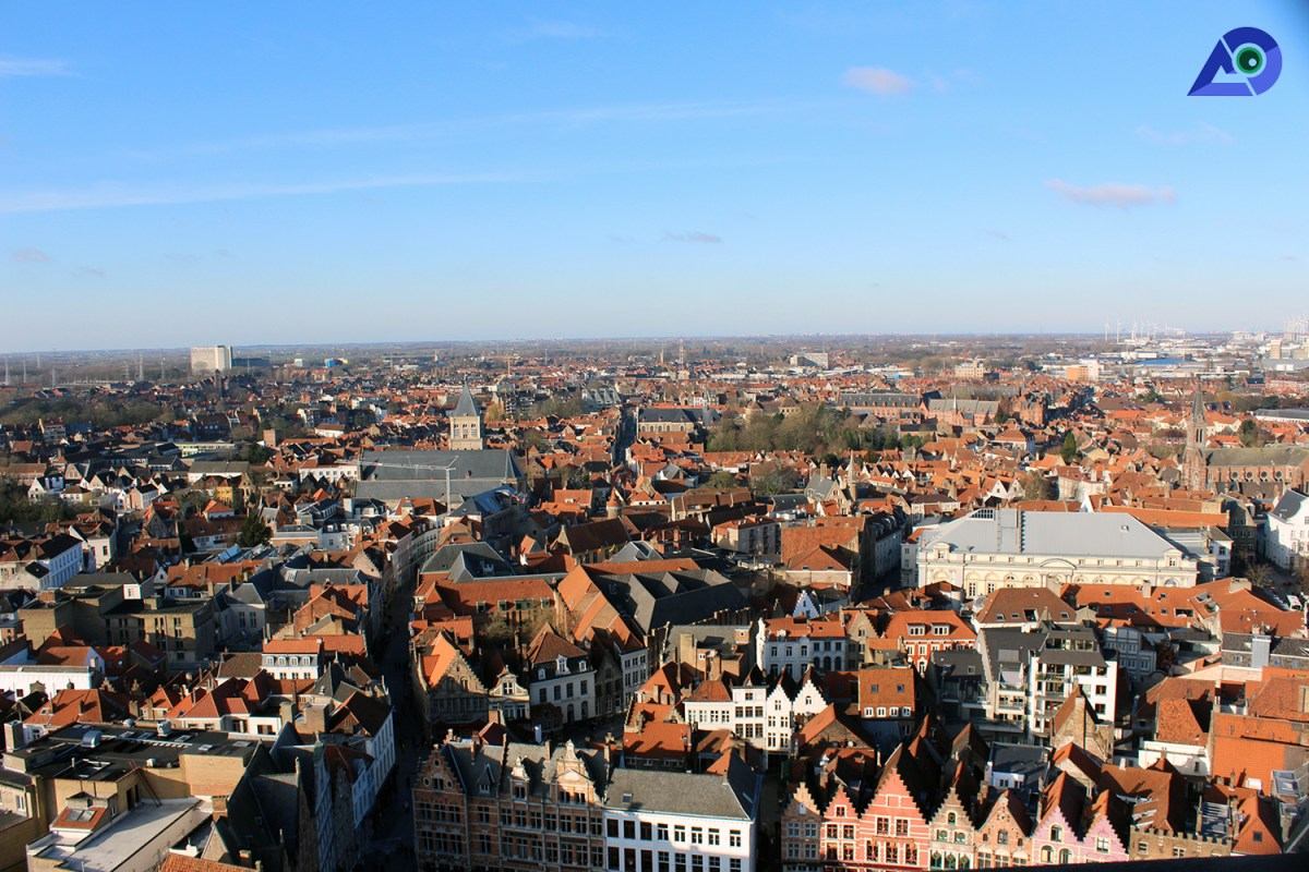 Bruges Belfry View from the top