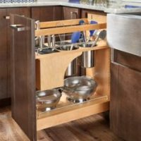 Base Cabinet Pullout Knife/Utensil Base Organizer