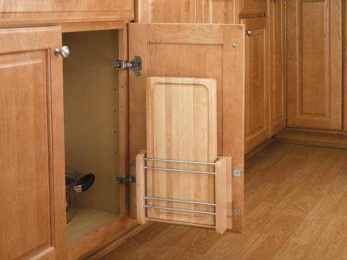 Door Storage Cutting Board Rack with Wood Cutting Board