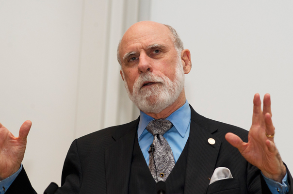 Vint Cerf speaking at the 2011 OII Internet Awards.