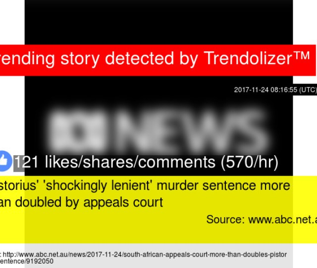 Pistorius Shockingly Lenient Murder Sentence More Than Doubled By Appeals Court