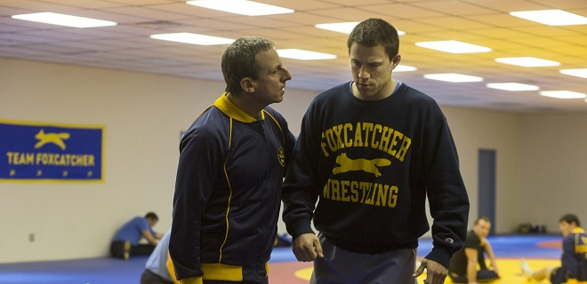 Steve Carell and Channing Tatum in Foxcatcher, making its U.S. premiere at NYFF