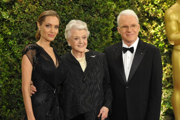 From left to right: Angelina Jolie, Angela Lansbury and Steve Martin, recipients of 2013 Honorary Oscars