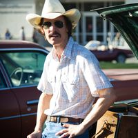 Showing off his dramatic weight loss in the Oscar bid, Dallas Buyers Club