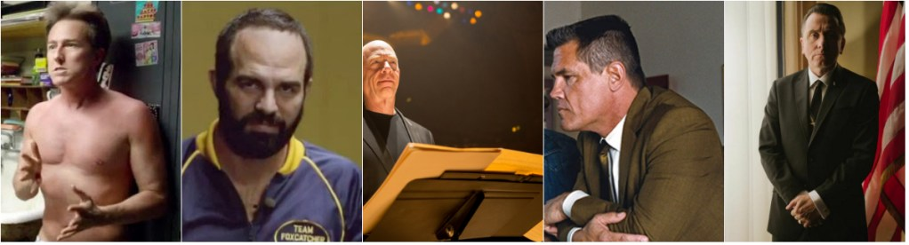 From left; Edward Norton, Mark Ruffalo, J.K. Simmons, Josh Brolin, Tim Roth