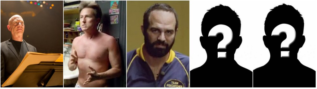 From left; J.K. Simmons (Whiplash), Edward Norton (Birdman), Mark Ruffalo (Foxcatcher) and...??