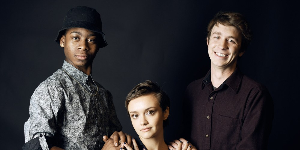 From left; RJ Cyler, Olivia Cooke and Thomas Mann from the Sundance winner Me and Earl and the Dying Girl