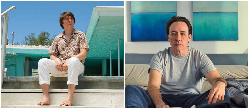 From left; Paul Dano and John Cusack battle Brian Wilson's demons