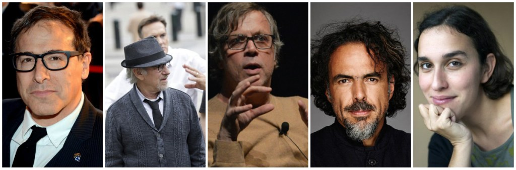 From left; David O. Russell (Joy), Steven Spielberg (Bridge of Spies), Todd Haynes (Carol), Alejandro González Iñárritu (The Revenant), Sarah Gavron (Suffragette)