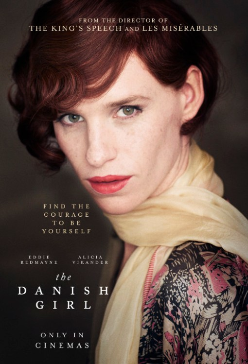 """The Danish Girl"" Red haired transgender woman looking into camera"