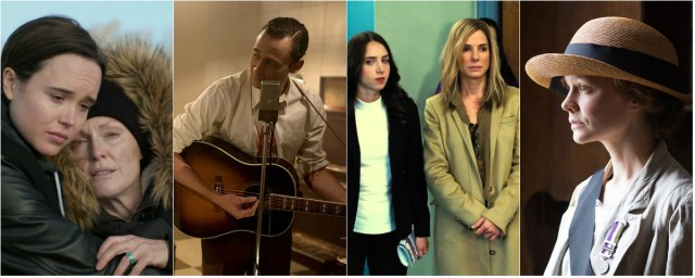 From left; Freeheld, I Saw the Light, Our Brand Is Crisis and Suffragette - all on Oscar life support