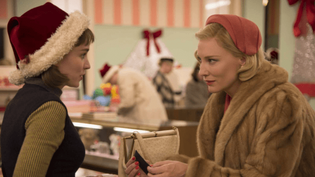 Rooney Mara and Cate Blanchett in CAROL, which scored a field-best seven London Film Critics Circle nominations