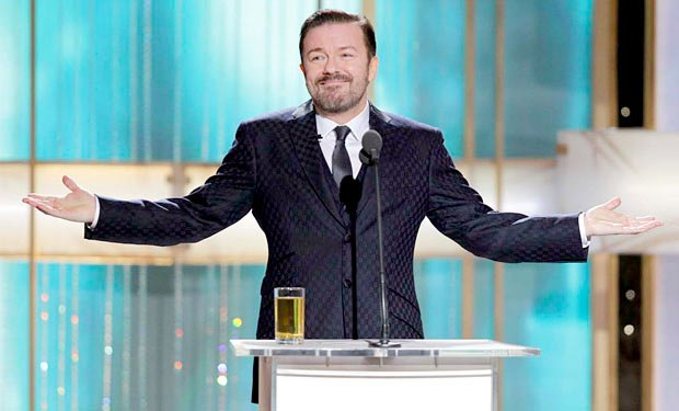 Bad boy Ricky Gervais returns to the Golden Globes