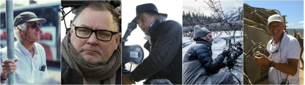 American Society of Cinematographers (ASC) nominees: Roger Deakins, Janusz Kaminski, Ed Lachman, Emmanuel Lubezki, John Seale