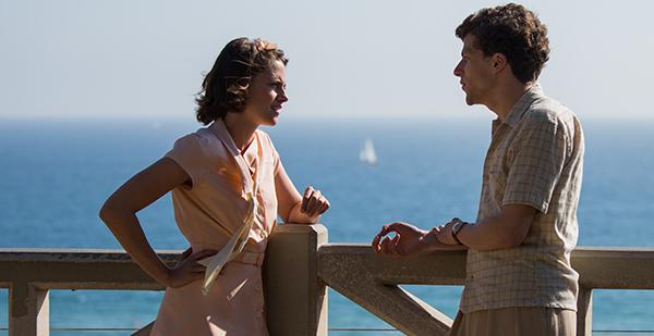 Kristen Stewar and Jesse Eisenberg in Woody Allen's Café Society