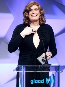 Lilly Wachowski, accepting the Outstanding Drama Series prize at the GLAAD Media Awards