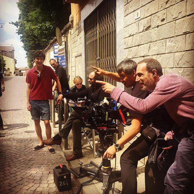 Guadagnino, right, with cinematographer Sayombhu Mukdeeprom