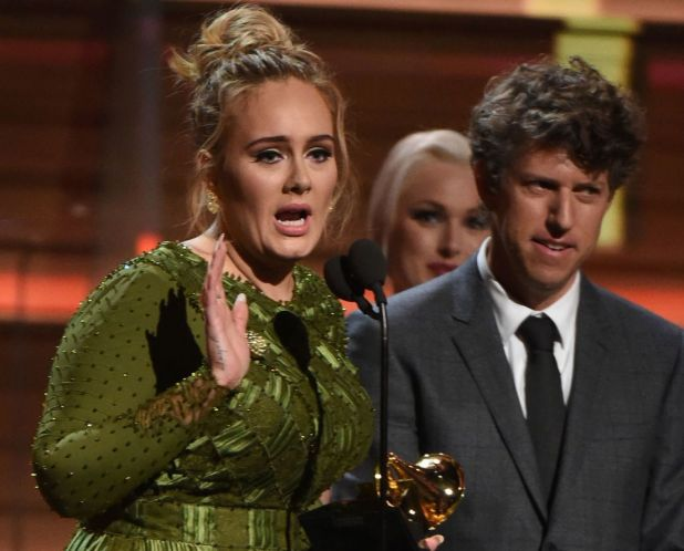 Adele was the night's big winner with Album, Song and Record of the Year