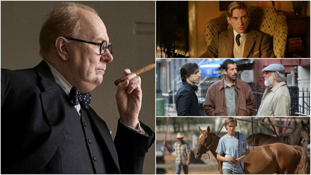 Gary Oldman is still smoking the competition but May sees debuts from Domhnall Gleeson, Adam Sandler and Charlie Plummer