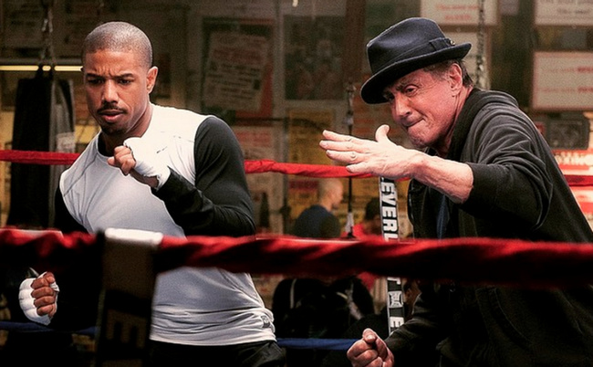 Michael B. Jordan and Sylvester Stallone in Creed (2015)