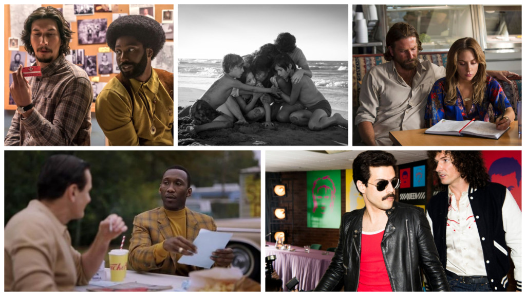 frontrunner-friday-2019-oscars-blackkklansman-roma-a-star-is-born-green-book-bohemian-rhapsody