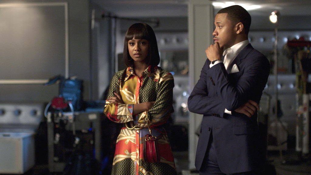 """Still of Tetona Jackson as Simone Graham and Tequan Richmond as Bryson Broyer from BET's """"Boomerang"""" episode 101. (Photo: BET)"""