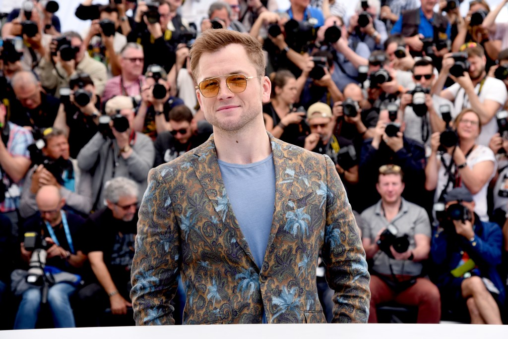 "CANNES, FRANCE  - MAY 16: Taron Egerton attends the ""Rocketman"" Photocall during the 72nd annual Cannes Film Festival on May 16, 2019 in Cannes, France. (Photo by Serge Arnal/Paramount)"
