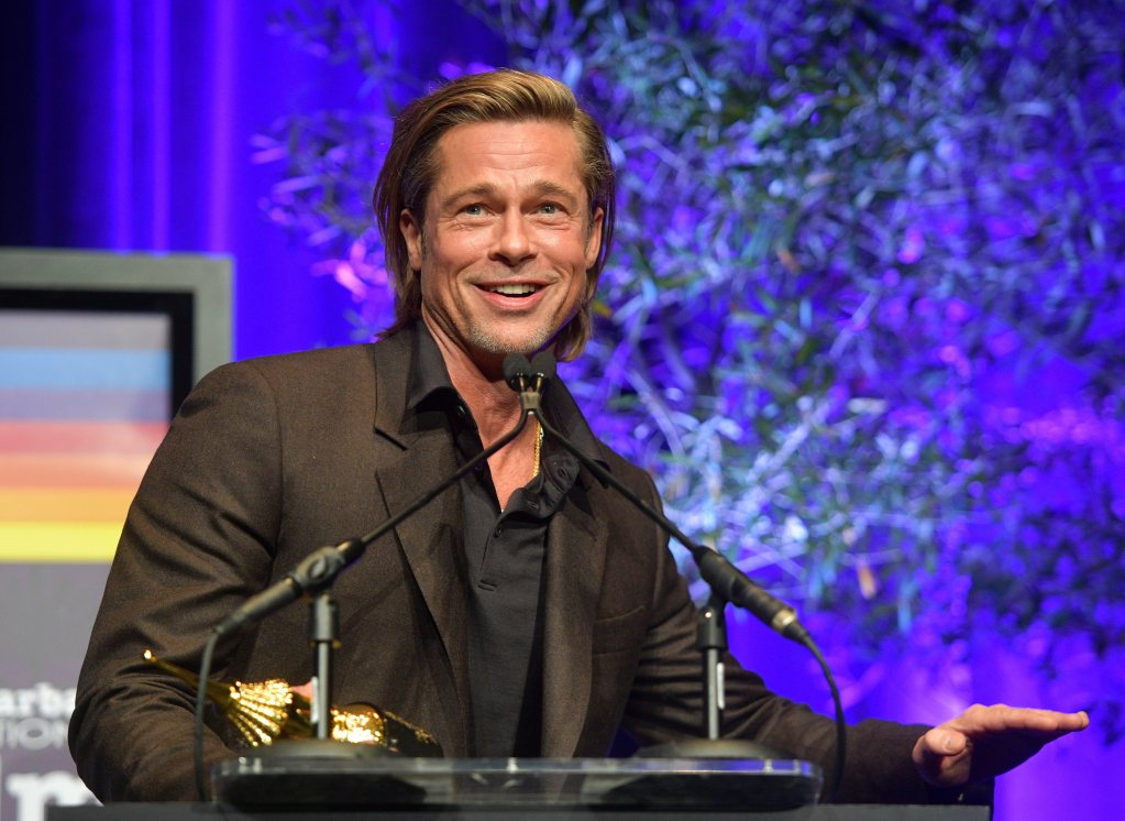 SANTA BARBARA, CALIFORNIA - JANUARY 22: Brad Pitt speaks onstage at the Maltin Modern Master Award Honoring Brad Pitt during the 35th Santa Barbara International Film Festival at the Arlington Theatre on January 22, 2020 in Santa Barbara, California. (Photo by Matt Winkelmeyer/Getty Images for SBIFF)
