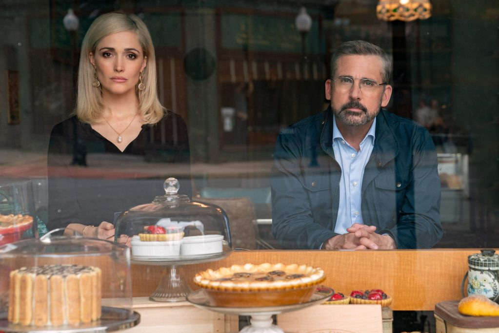 Rose Byrne stars as Faith Brewster and Steve Carell as Gary Zimmer in IRRESISTIBLE, a Focus Features release.    Credit: Daniel McFadden / Focus Features