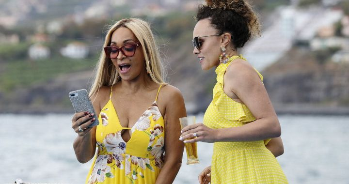 THE REAL HOUSEWIVES OF POTOMAC -- Pictured: (l-r) Karen Huger, Ashley Darby -- (Photo by: Carlos Rodriguesi/Bravo)