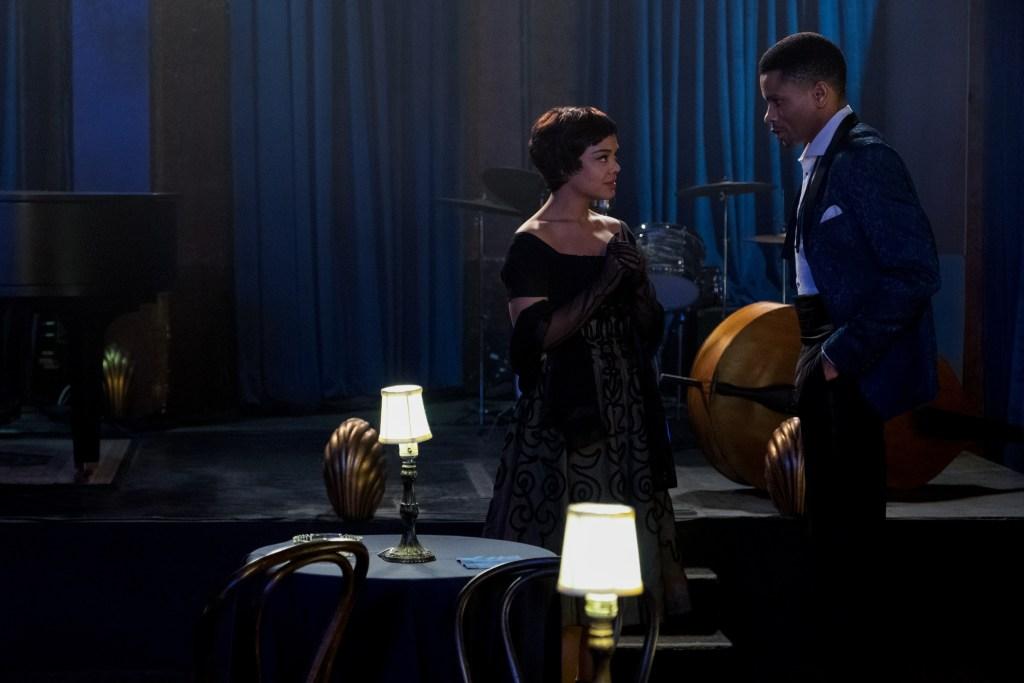 TESSA THOMPSON as SYLVIE PARKER and NNAMDI ASOMUGHA as ROBERT HALLOWAY in SLYVIEÕS LOVE