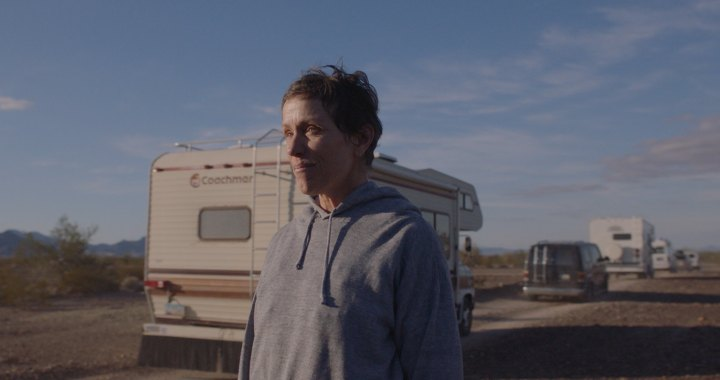 Frances McDormand in the film NOMADLAND. Photo Courtesy of Searchlight Pictures. © 2020 20th Century Studios All Rights Reserved
