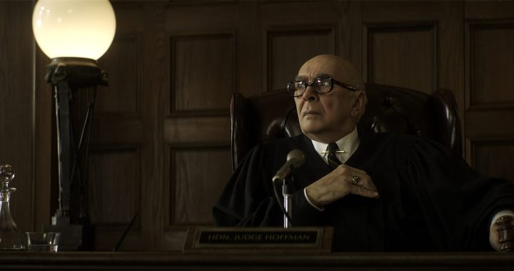 The Trial of the Chicago 7.   Frank Langella as Julius Hoffman in The Trial of the Chicago 7. Cr. Niko Tavernise/NETFLIX © 2020