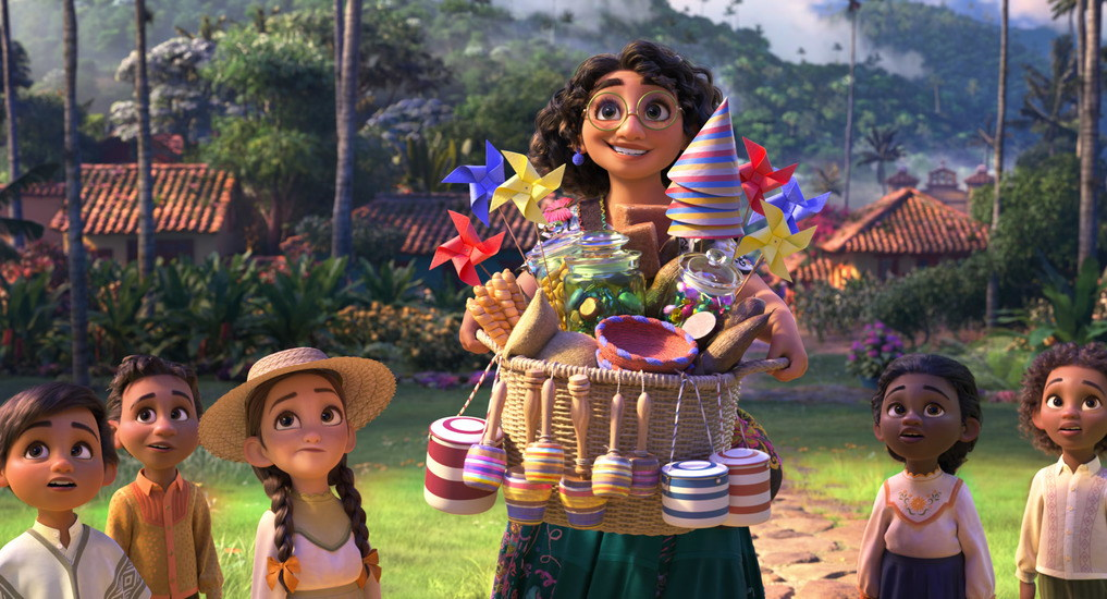 """Walt Disney Animation Studios' """"Encanto"""" introduces Mirabel, a 15-year-old who lives with her family in the mountains of Colombia in a magical house, in a vibrant town, in a wondrous, charmed place called an Encanto. Mirabel, a kind and humble teenager who puts the ordinary in extraordinary, struggles to fit in a family that's blessed with magical powers. Featuring the voice of Stephanie Beatriz as Mirabel, """"Encanto"""" opens in theaters on Nov. 24, 2021. © 2021 Disney. All Rights Reserved."""