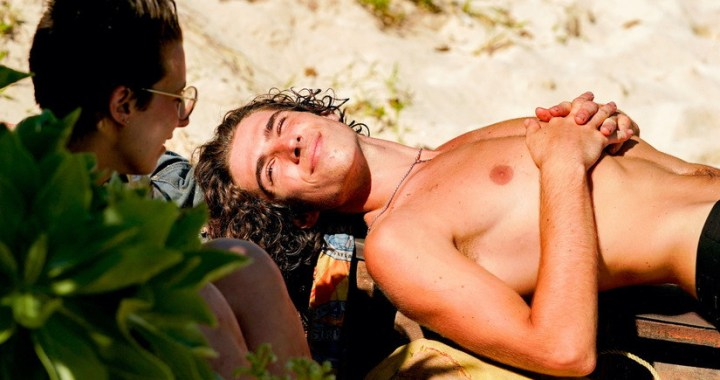 """""""They Hate Me 'Cause They Ain't Me"""" — Xander Hastings on the fourth episode SURVIVOR 41, airing Wednesday, Oct.13th (8:00-9:00 PM, ET/PT) on the CBS Television Network. Photo: Robert Voets/CBS Entertainment 2021 CBS Broadcasting, Inc. All Rights Reserved."""