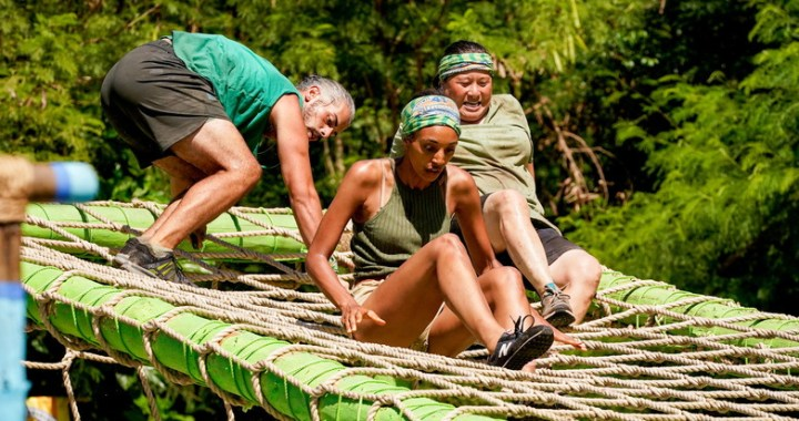 """""""The Strategist or The Loyalist"""" — Ricard Foye, Shantel Smith and Genie Chen on the fifth episode of SURVIVOR 41, airing Wednesday, October 20 (8:00-9:00 PM, ET/PT) on the CBS Television Network. Photo: Robert Voets/CBS Entertainment 2021 CBS Broadcasting, Inc. All Rights Reserved."""