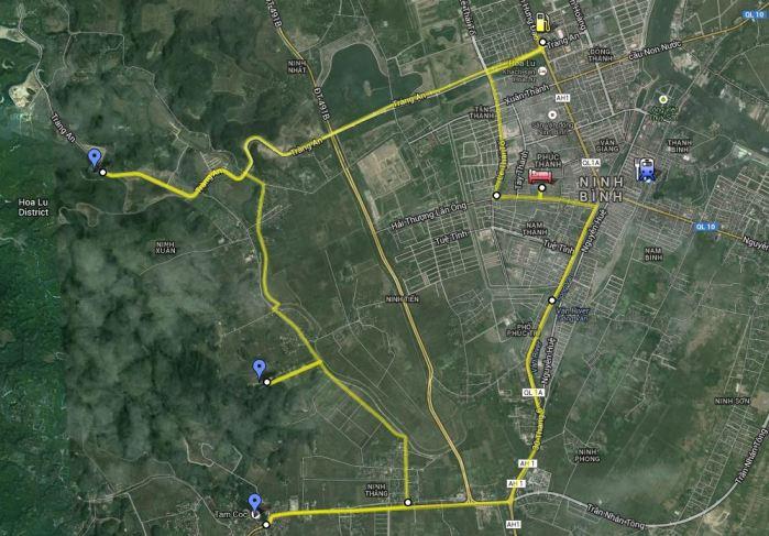 Map of Ninh Binh