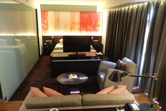Our amazing room at the Park Plaza Soi 18 in Bangkok