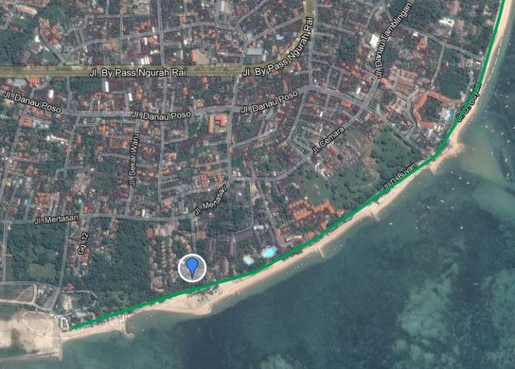 Exact Location of Power of Now Oasis yoga studio in Sanur, Bali