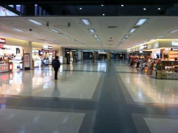 The almost empty terminal building in Gimpo