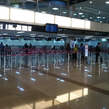 The check in counters for T'way, which was operating our codeshare flight that day