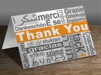 Thank You Card Design - Aware Creative Solutions